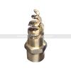 Brass fire control full cone spiral nozzle