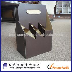 6 pack/bottle cardboard beer carrier box
