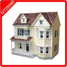 Three-floor Blue Doll House big doll houses