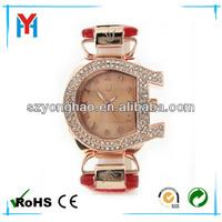 Quartz diamond new design Geneva lady watch in stock