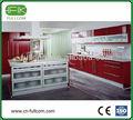 puertas rojas moderna de cocina y armarios hechos en Shanghai