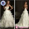 SA4416 Free shipping wedding dress designs organza ruffles skirt