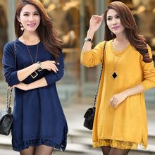 women plus size clothing long dress sweater knitting