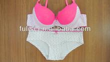 Hot sell lace charming bra set