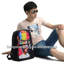 New 2014 Fashion Trend Backpack Men, 17 inched Steve Jobs Unique Backpack School Bag with Tablet, Mobile Pocket, Bistar BBP105