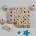 Tampon alphabet jouet d'éducation, jouet en bois
