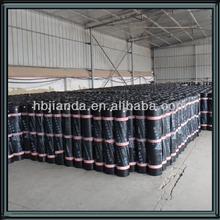 Flat roofing reinforced bituminous waterproof membrane