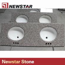 Stone countertops,commercial bathroom countertop,double bathroom sink countertop