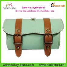 2015 high quality fashion pu leather saddle travel bike bag