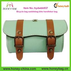 2015 high quality fashion pu leather saddle bike bag travel bags