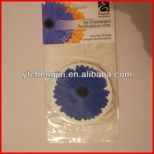 logo screen printing paper air freshener/custom cotton paper air freshener