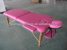 Portable Massage Table of wooden 2--section with PVC leather for christmas gift-masa de masaj Table de massage