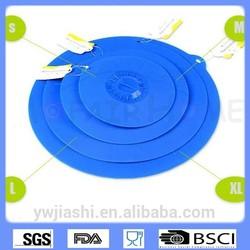 """Food grade material/FDA,LFGB/5""""-12"""" silicon / silicone lid,Multi-purpose Silicone preservative covers"""