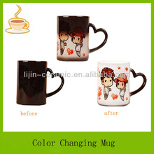 fashion designs temperature color change cup for sale, color changing mug, mug for gift