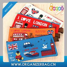 Encai Wholesale Cheap London Pencil Bags/Student Pencil Case/Promotional Gift Stationery Bag
