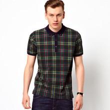 customized hot plaids uniform polo shirt factory china