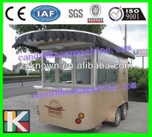 3m long stainless steel luxury street mobile food van with wheels