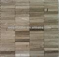 in marmo grigio di legno mattonelle di mosaico senza fuga di