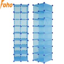 Interlocking 16 pairs Cube shoe organizer room storage in many colors(FH-AL16400)