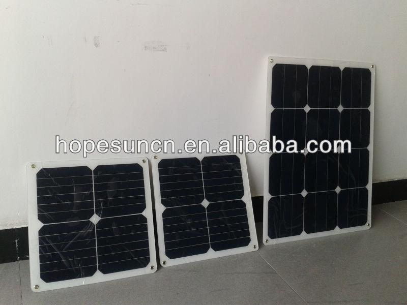 Import solar panels 180W sunpower cell semi flexible solar panel for boats