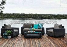 outdoor Rattan Furniture 2+1+1 sofa set