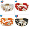 2013 wholesale multi-chain fashion bracelet friendship bracelets magnetic leather fashion bracelets vner MLB01
