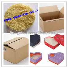 fresh pork skin technical gelatin price/industrial gelatin powder as adhesive sealant for carton use