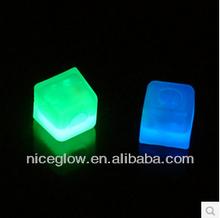 Glow ice cube in the dark