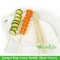 rotondo forte di carne di bambù bbq bastone per cibo spiedo rotondo