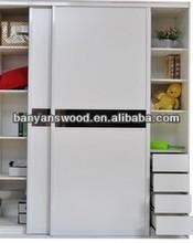 bedroom wardrobe furniture white solid wood wardrobe