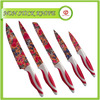 Flower Printed Stainless Steel Paring Knives Set