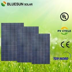 TUV Bluesun 250w poly solar panel price per watt