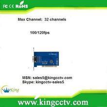 H.264 4ch dvr card techwell 4ch HK-6104S