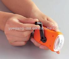 3 led manual dynamo torch light