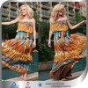 2014 New Woman Trendy Off-shoulder Printed Bohemia Style Summer Maxi Dresses