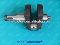 S1110 single cylinder four stroke water cooled diesel engine spare parts crankshaft