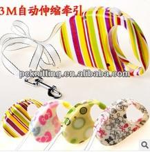 Fashion Colored Dacron 3M Retractable Pet Leash Doog Pet Lg Leads Retractable Pet Dog Leash MOQ:100pcs