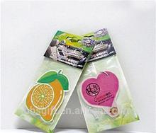 2015 Custom Paper Fruit Shape and Lasting Scent Air Freshener