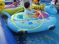 Interessante inflável aqua barco& barco pára-choques para crianças e adultos