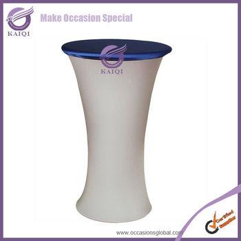 809 navy spandex round custom bar stool covers
