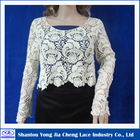 China Manufacturer 2014 Popular Cotton Embroidered Water soluble Lace Ladies' crochet blouse