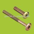 Venda quente de zinco banhado a para móveis de ferro parafuso sextavado interior com alta qualidade ( FF2911 )