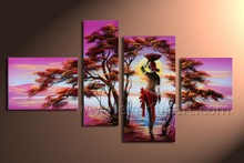 Modern Hand-painted Indian Nude Painting Of Women For Wall Decor