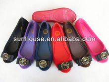 Women hot sale casual flats shoes PVC sandals