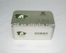 Rectangle tea tin