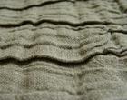 Corrugated natural grey linen cotton fabric
