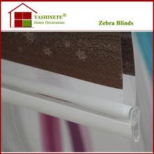 China home bedroom New design Jaquard Zebra Blinds/sun shading roller blinds