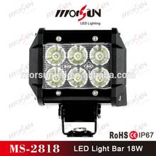 Hot sale mini work lights 12v, aluminum housing led bars IP67, 18w led light bar