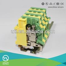 Utility JUT1-6PE Yellow/Green PE Terminal Block