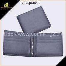Bi fold Genuine Leather Men's Wallets with Money clip
